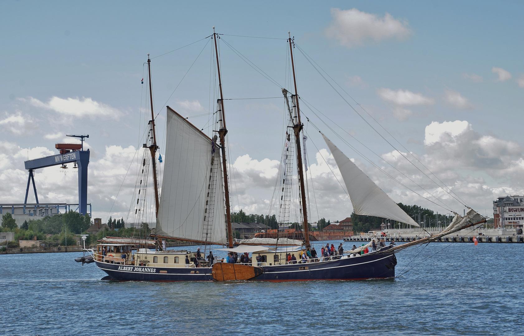 Albert Johannes bei der Hanse Sail