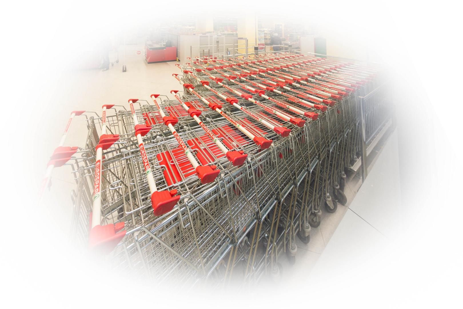 Albtraum Samstag-Einkauf
