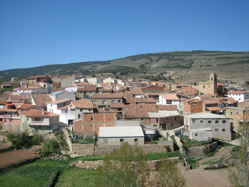 Aldea de El Collado situada en el area de Los Serranos