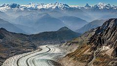 ALETSCHBLICK in die Walliser Alpen