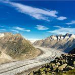 Aletschgletscher 19 km lang