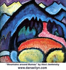 Alexander v. Jawlenski Berge bei Murnau