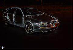 Alfa-Lights , der Langzeitbelichtung sei dank.