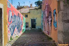 Alfama Graffiti in der Altstadt