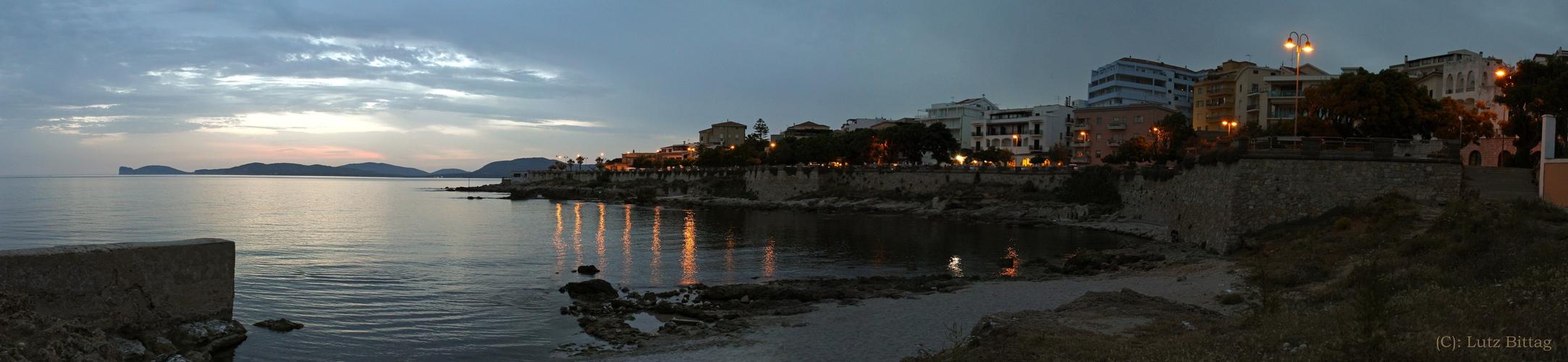Alghero @ night (Panorama)