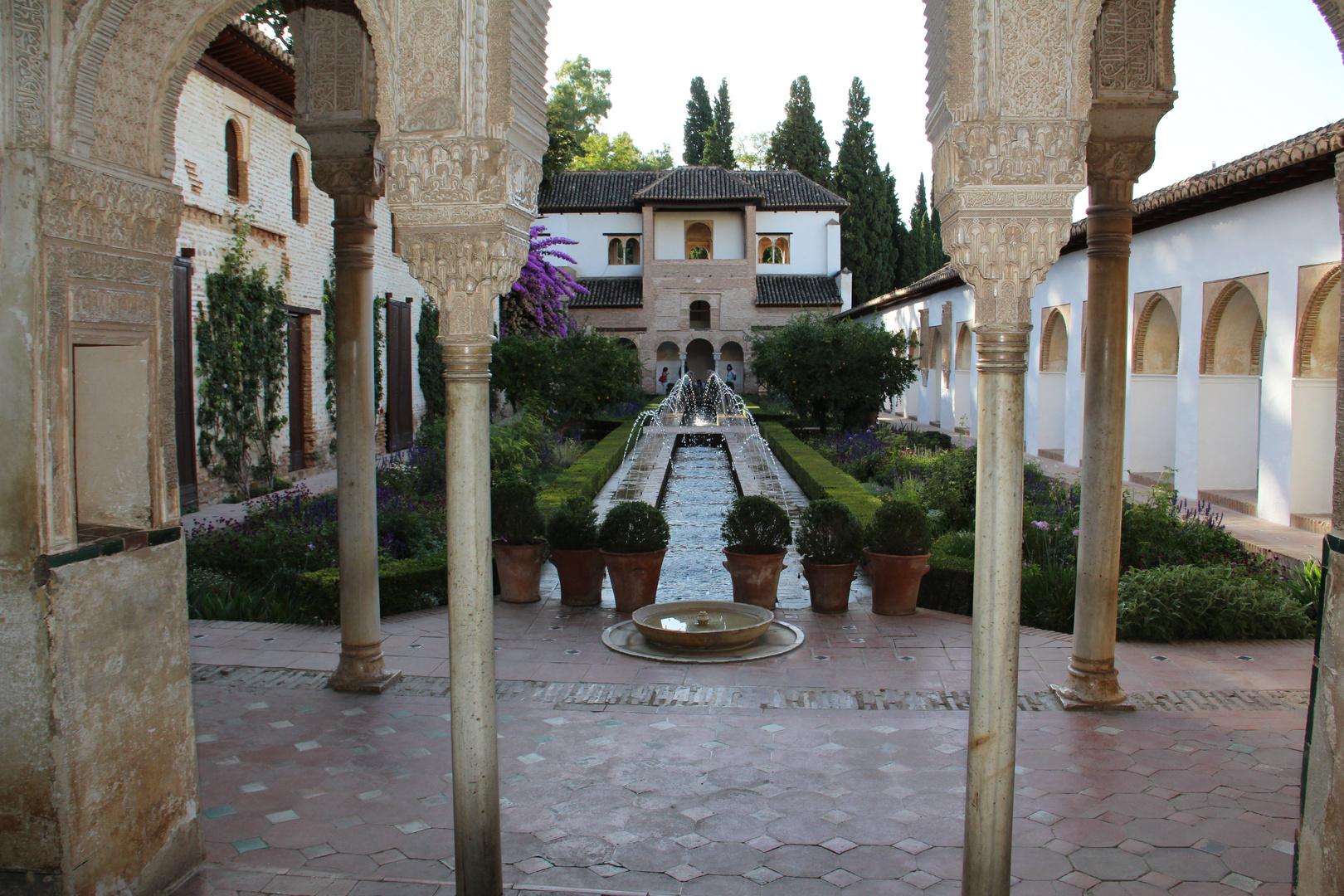 Alhambra, Granada, Sommerpalast der Könige.