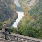 Aliakmon river crossing Zaborda region, Kozani