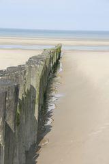 ...Alignement, plage de Berck...