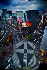 Alle-Gehen-Kreuzung, Ginza, Tokyo