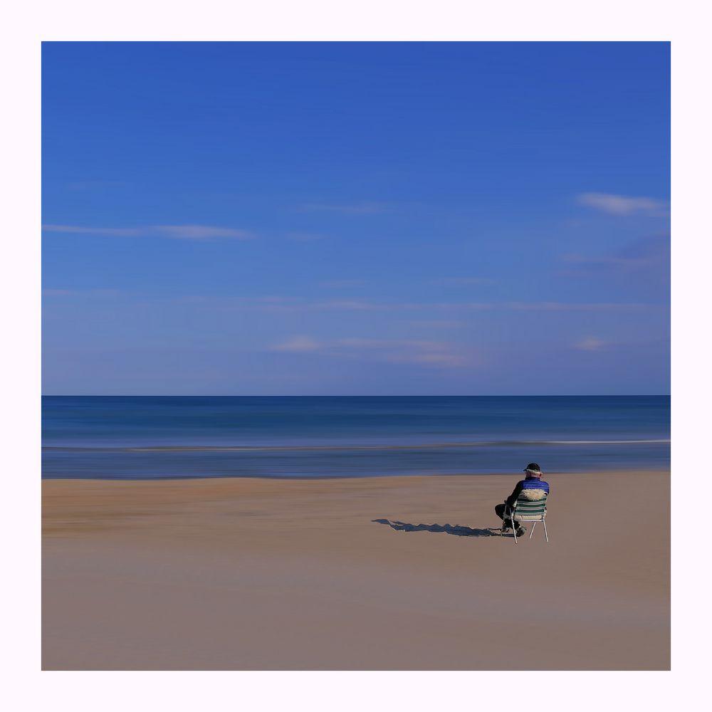 allein am Strand...