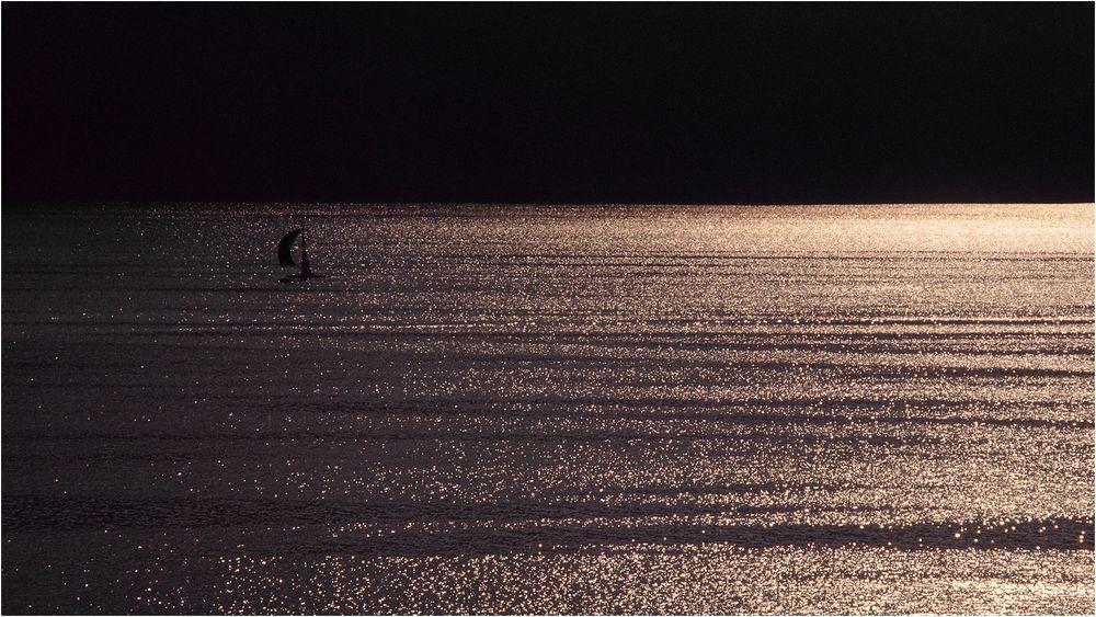 Allein auf dem See