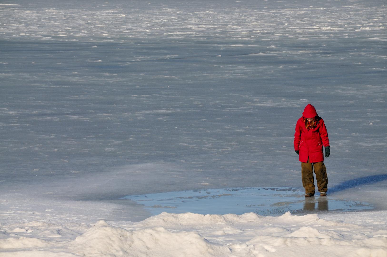.... allein im Eis ....