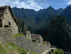 Allein in Machu Picchu.