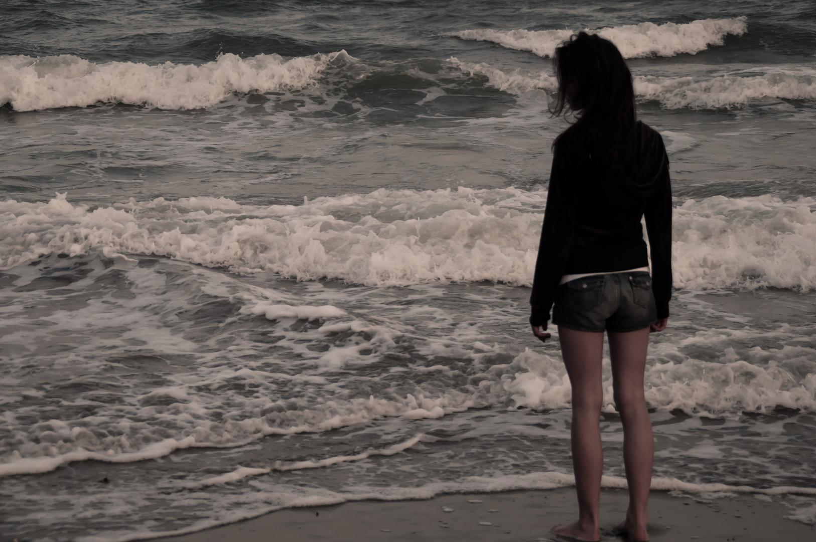 Allein mit dem Meer