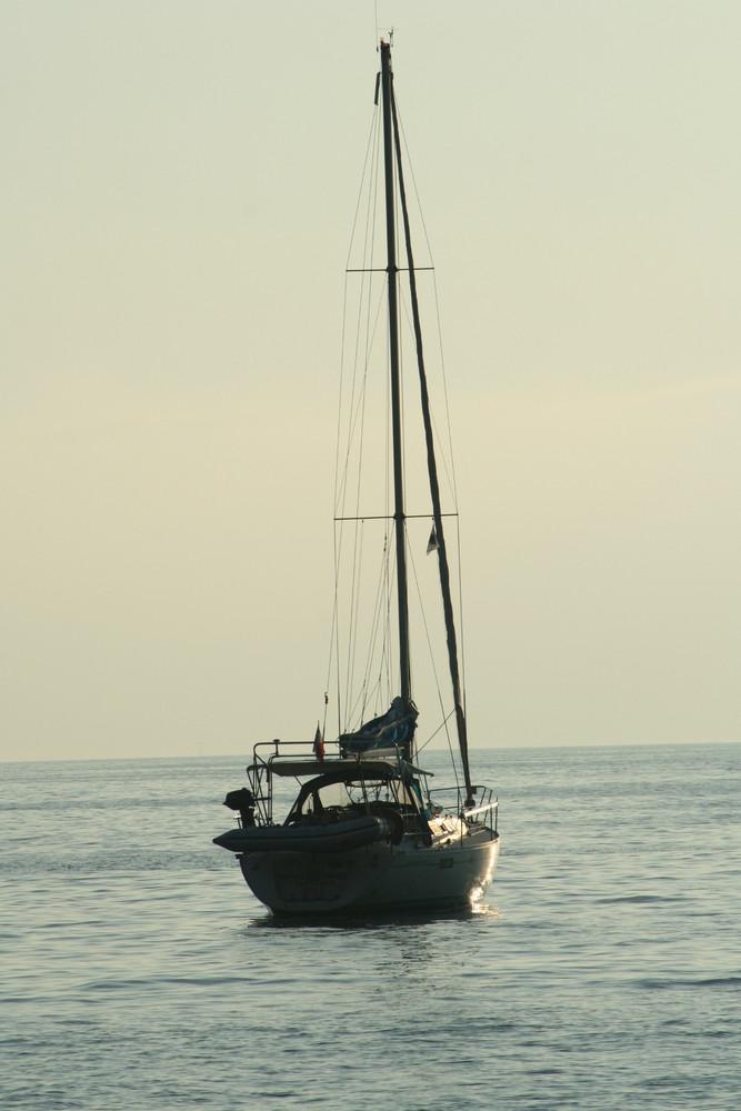 Alleine auf Meer