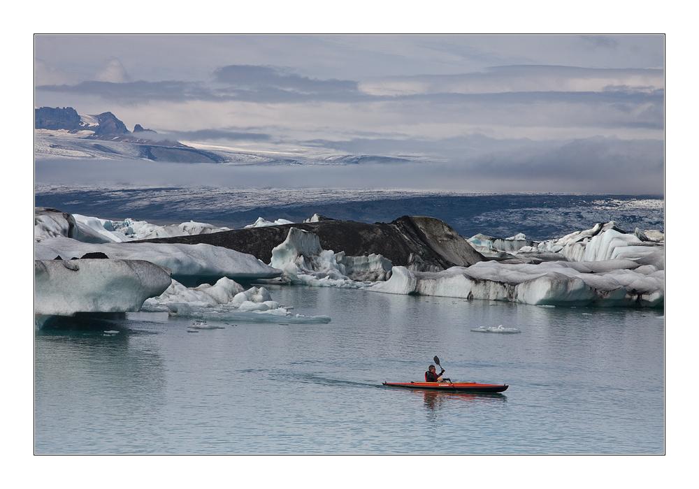 Alleine im Eismeer