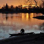 Alleine mit sich und seinem Boot
