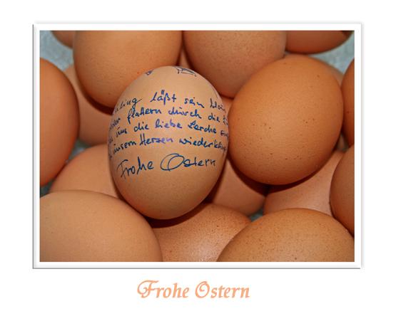 """allen Christen ein """"frohes Osterfest"""" und dem Rest ein paar schöne (freie) Frühlingstage"""