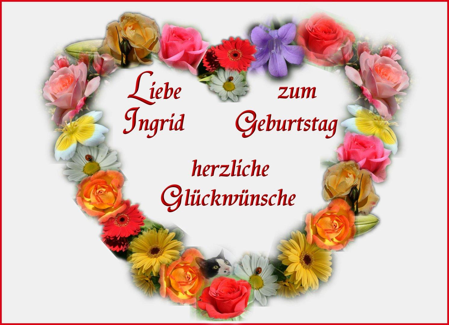 Alles Liebe Für Dich Liebe Ingrid Foto Bild Gratulation Und