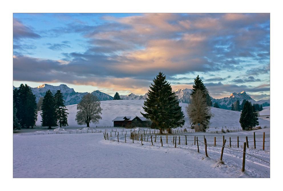 Allgäuer Winterlandschaft