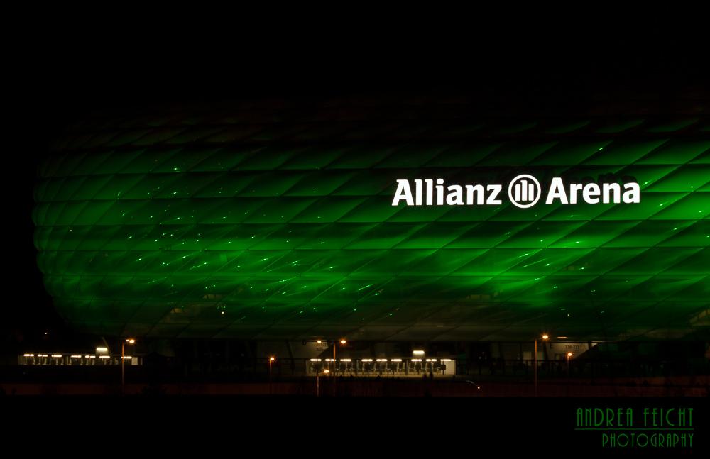 Allianz Arena in Grün