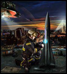 Alltag bei der Berliner Feuerwehr - 2027 (Bild auf's Wesentliche reduziert...)