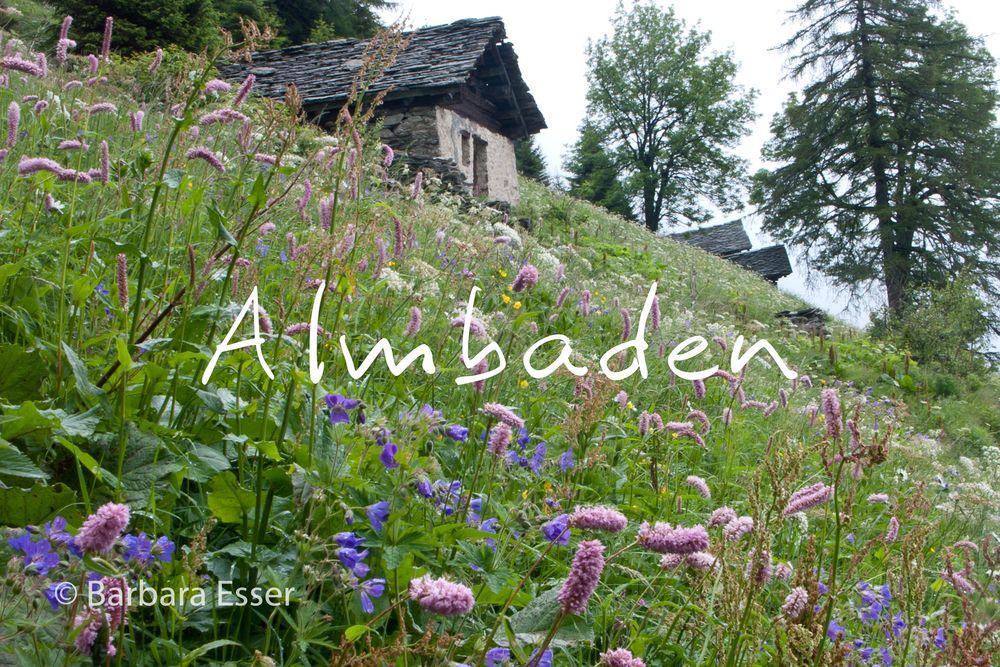 Almbaden - Bergell oberhalb von Soglio
