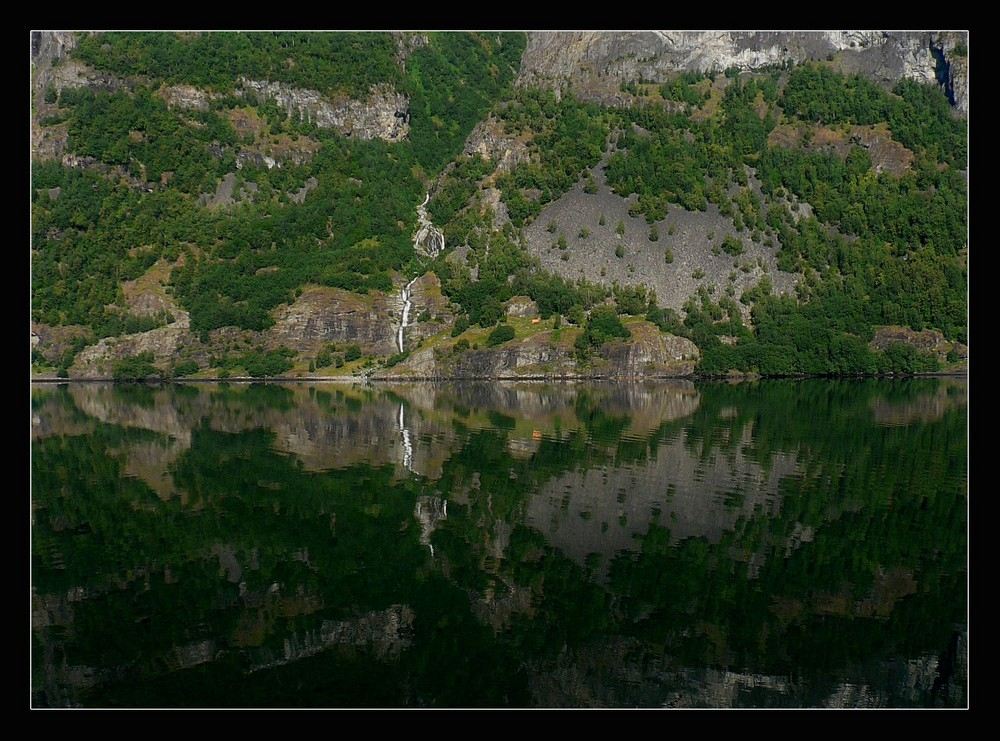 Along a fjord