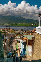 Along the hill road in Santiago de Cuba
