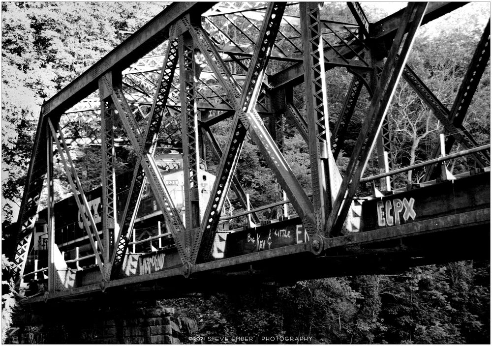 Along the Old Main No.18 - CSX Freight Crossing the Ilchester Bridge