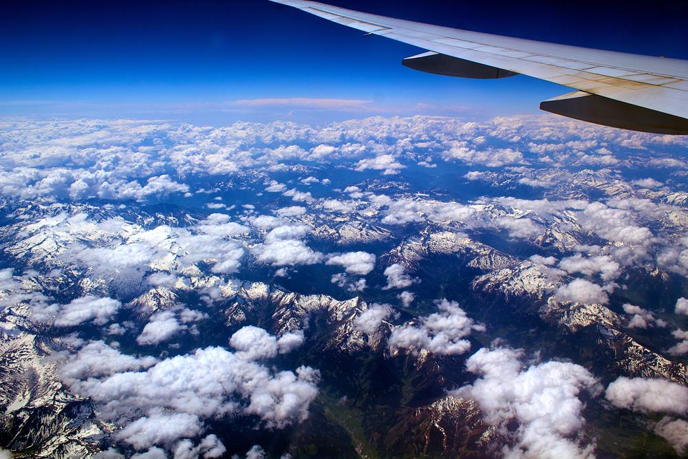 Alpen im Überflug