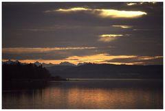 Alpenblick am Abend