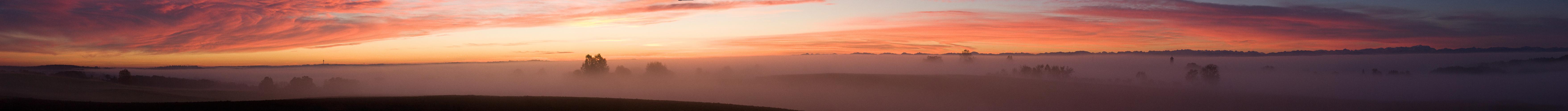 Alpenblick am Morgen
