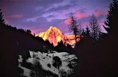 Alpenglühen am Großglockner