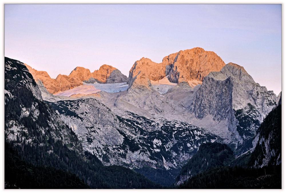 Alpenglühen aus der Nähe