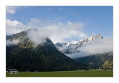 Alpiner Morgenblick aus dem Womofenster