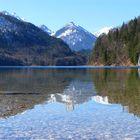 Alpsee bei Schloß Neuschwanstein