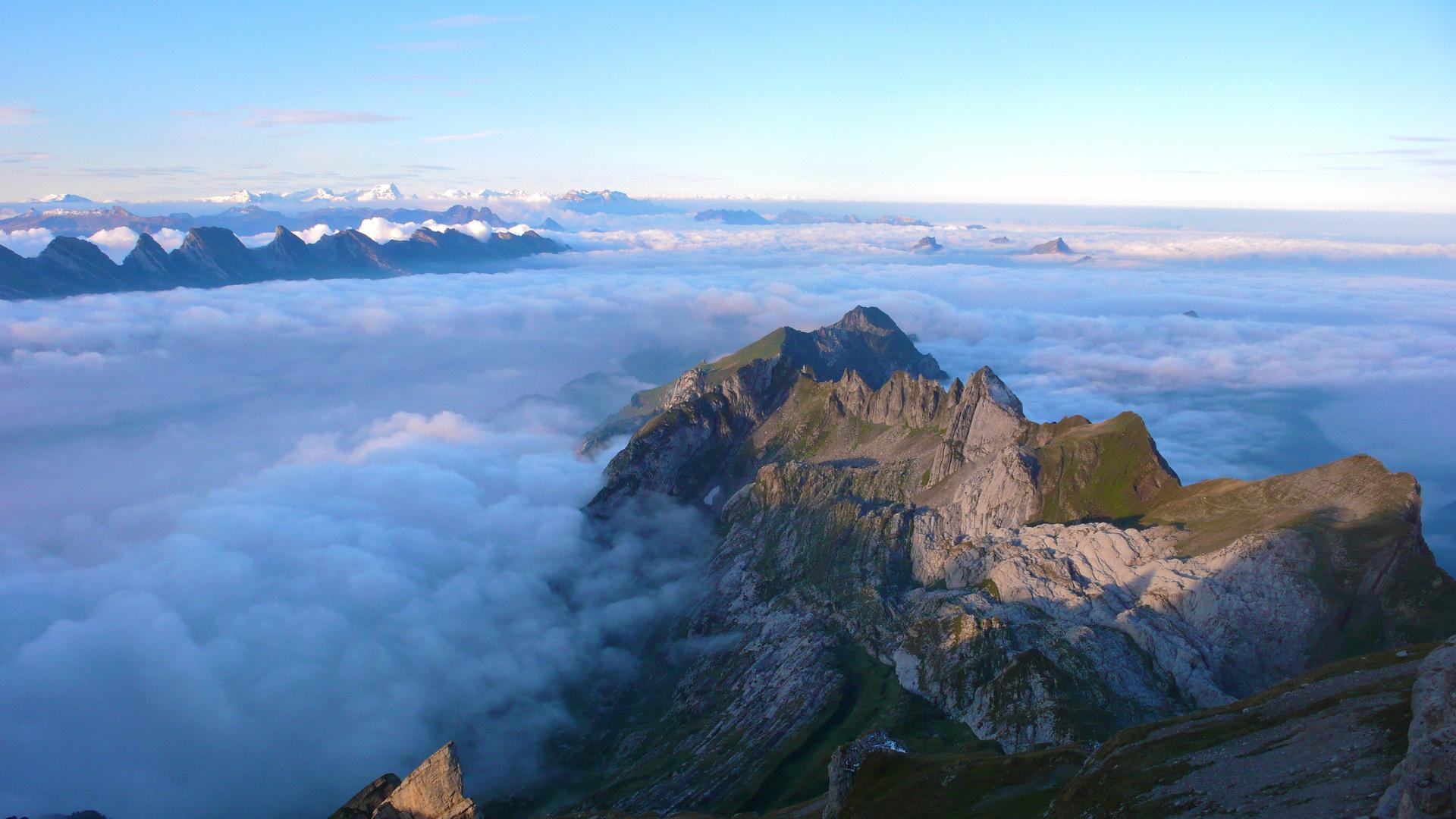 Alpstein mit Nebelmeer