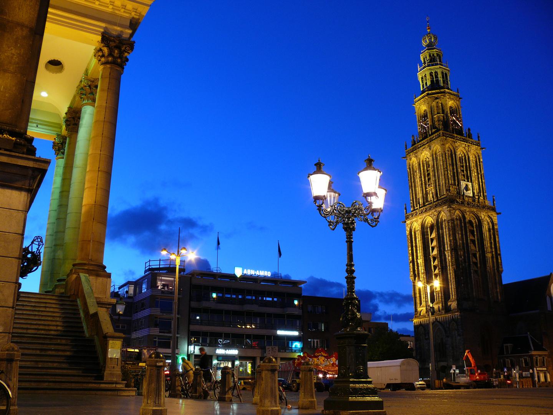Als de avond is gevallen - Grote Markt Groningen