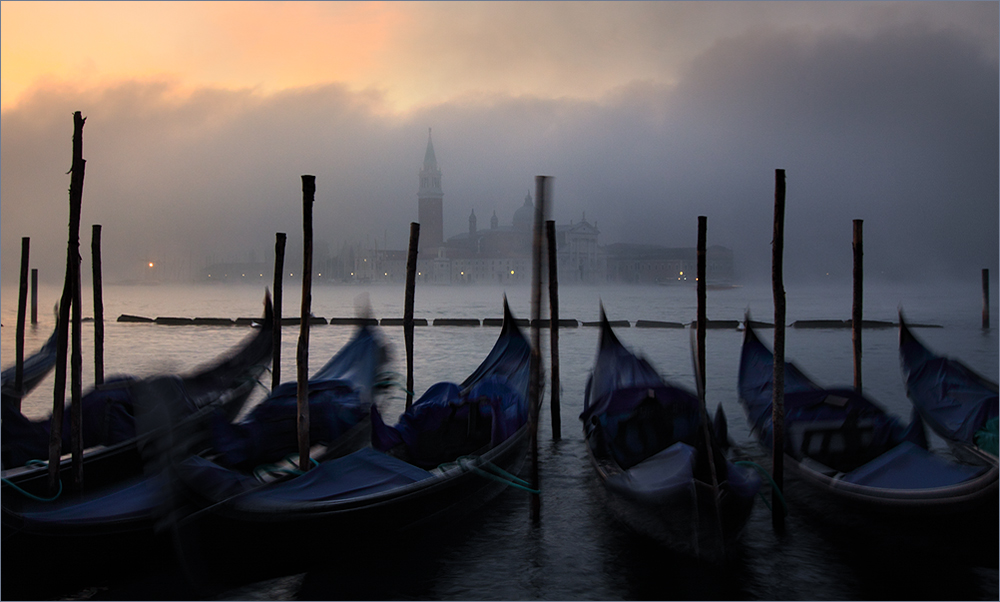 Als die Sonne ging, kam der Nebel