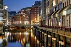 Alsterfleet Hamburg am Abend