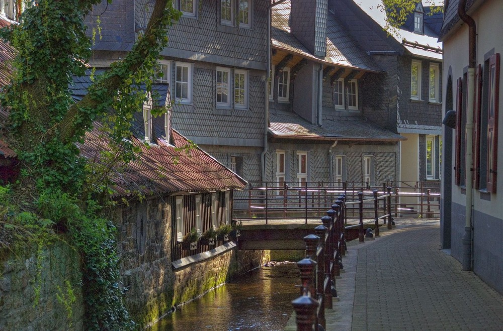 Alt-Stadt Goslar am Frühenmorgen