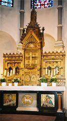 Altar der jetzt zerstörten kath. Kirche Jüchen-Otzenrath