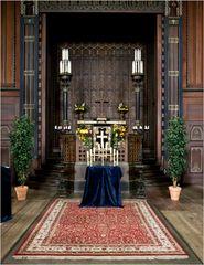 Altar der kleinen Holzkapelle