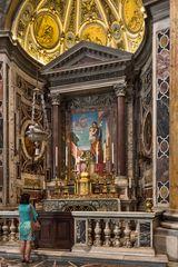 Altar des heiligen Josef im Petersdom in Rom