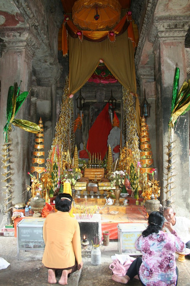 Altar en Angkor Wat