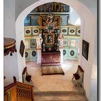 Altar in der Schlosskapelle, Schloss Stollberg
