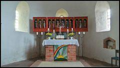 Altar in Kirche Süderende auf der Insel Föhr