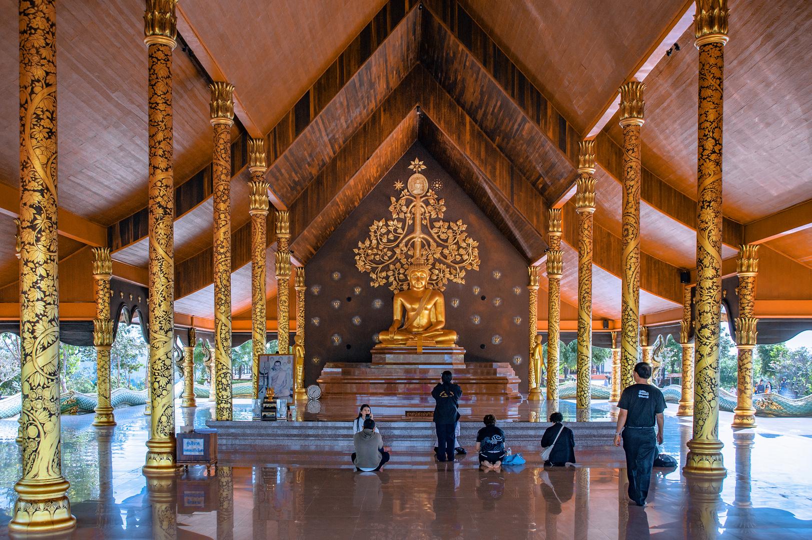 Altar inside Wat Sirindhorn