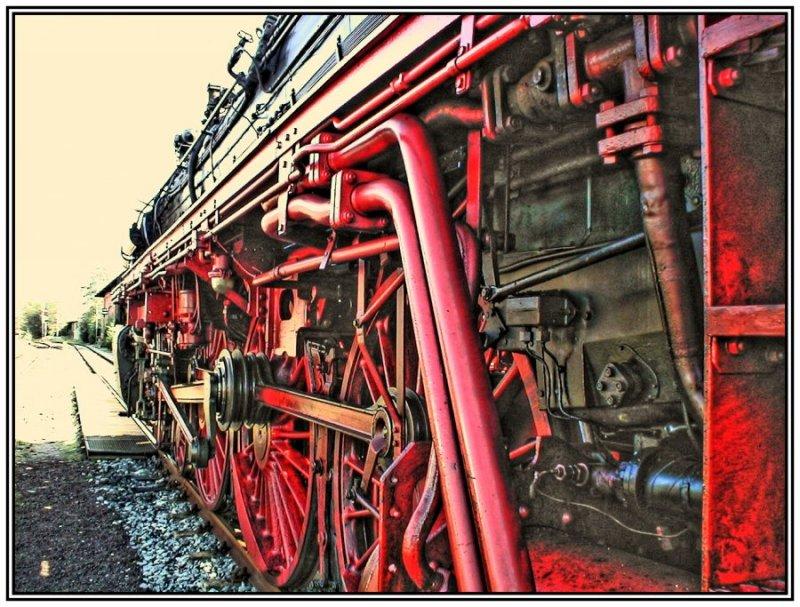 Alte Dampf-Lok